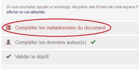 Métadonnees