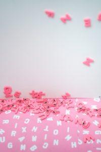 Lettres aimantées