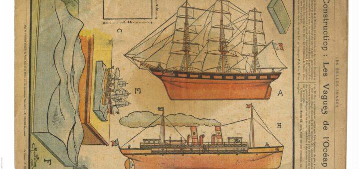 Construction : Les vagues de l'Océan (1911). Les Belles images. In Gallica. En ligne https://gallica.bnf.fr/ark:/12148/bpt6k961044f. Public Domain.